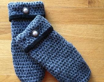 Wool Sweater Mittens Fleece lined