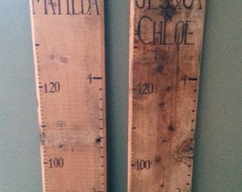 Giant wooden growth chart ruler