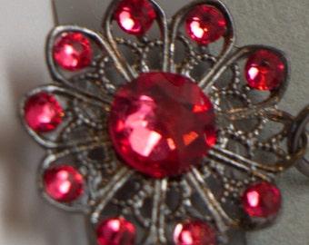 Swarovski Crystal Flat Back Drop Earrings