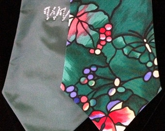 Tiffany Colors and Patterns-like Heavy Silk Necktie