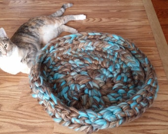 Cat Bed/Dog bed/Pet bed/small pet bed/blue cat bed/grey cat bed/blue dog bed/grey dog bed/cat furniture/dog furniture