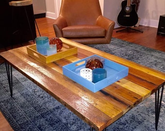 Hairpin Leg Rustic Reclaimed Coffee Table