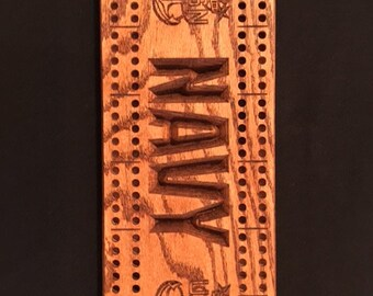 Navy Cribbage board