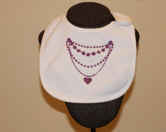 Jewelry Bib for Girls Bling Diamonds Etc