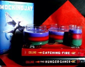 Hunger Games Mockingjay Inspired Soy Layered Candle- sample size