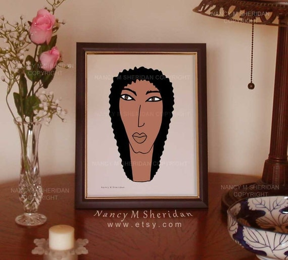 African American Women Prints African Wall By