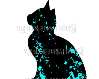 Cat distressed  SVG   cut file  t-shirts  animalsscrapbook vinyl decal wood sign cricut cameo Commercial use
