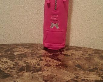 Pink Water Bottle Hoodie