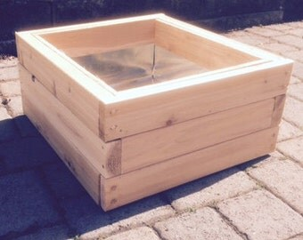 Single Cedar Planter Box, Lined, Stackable