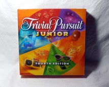 Trivial Pursuit Junior Fourth Edition, 1996 By Parker Brothers, Children's Trivia Game, Birthday Gift for Girl or Boy