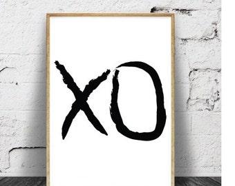 XO, XO Prints, Black and White Prints, Art Prints, Wall Art, Wall Decor, Artwork, Printable Art, Digital Art, Digital Prints, Fine Art, Art