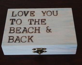 Beach Themed Ring Bearer Box! Beach Keepsake Box, Beach Wedding, Beach Jewelry Box