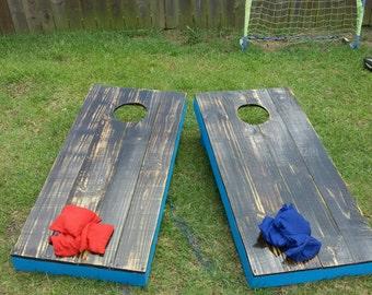 Bean Bag Toss Game, Cornhole,Backyard Game, Outdoor Lawn Toys, Yard Game, 48in x 22.5in, (12.7cm x 57.2cm)
