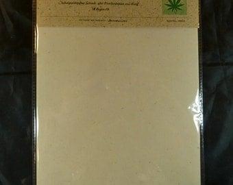 Hemp paper handmade A4 Set of 10 sheets