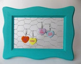 Candy Heart Clay Earrings