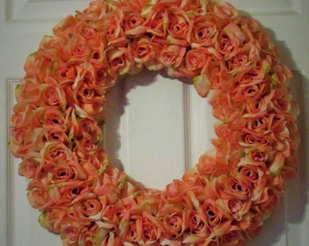 Rose Wreath- Home decor, Roses, Front door, wall decor