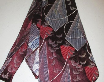 ExquisiteArt deco 1940s Creveling of California Swing Tie