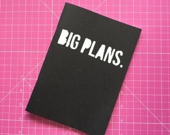 Staple Bound A5 Black Sketchbook 140gsm - Big Plans