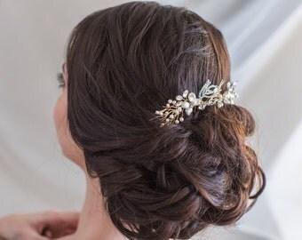 Bridal Comb with Swarovski Pearls and Crystals Bridal Hair Comb