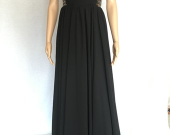 Black Evening Gown with Sequins