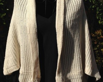 Knitted cardigan with little shine