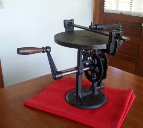 Antique Lapping Machine Vintage Hand Crank Grinding Honing And