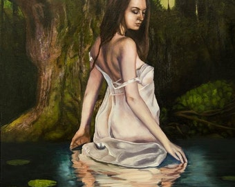 Lady in the Swamp Oil on Linen