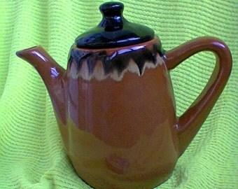 Action S A L E!Pottery coffee/tea//Ceramic service USSR//Dark pottery set/Cream-jug vintage USSR/1970-1980s/Handmade/Retro Home/Made in USSR
