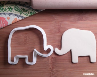 Elephant Cookie Cutter. Animal Cookie Cutter. 3D Printed. Baby Shower Cookies. Fondant Molds.