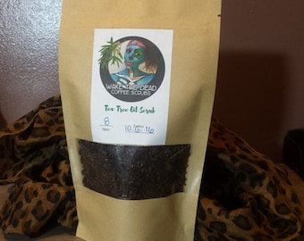 Coffee & Tea Tree Acne Defense Scrub    Scar Vanishing, Cellulite Scrub, Skin purifying, Acne Scrub, Coffee Exfoliator, Moisturizing