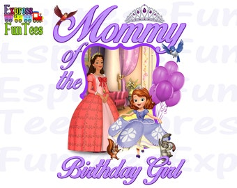 Sofia the First Iron On INSTANT DOWNLOAD /sofia the fisrt birthday shirt transfer/ sofia the first instant download /iron on transfer