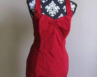 1950s NOS swimsuit in red size M