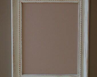 White Distressed Frame