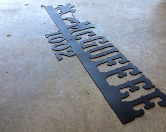 Deluxe Metal Sign- Custom Address Marker | Modern House Number | Last Name | Christmas Gift| Personalized Gift | #1400