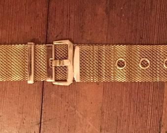 Vintage Gold Mesh Belt 1970s/80s
