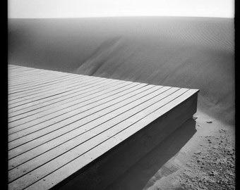 Beach Dune from Deck - BW Print