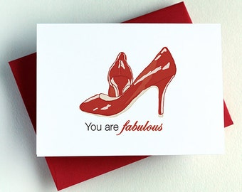 You Are Fabulous - Red Heels