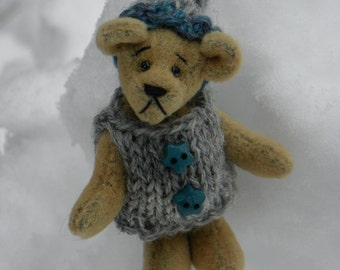 Tiny Tinn 2 inch  OOAK Artist Miniature Teddy Bear