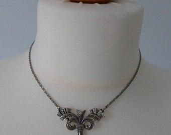 Vintage Marcasite Costume Necklace