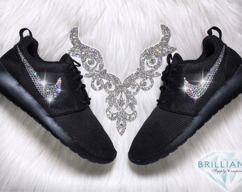 Swarovski Nike Shoes Bling Nike Roshe Black/Anthrcite/Black - Bling Nike Shoes - Swarovski® Xirius-Rose Crystals Authentic New In Box Bling