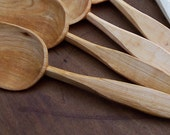 Wooden Serving Spoon - A - Hand Carved