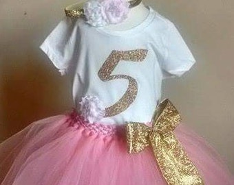 5th birthday tutu set