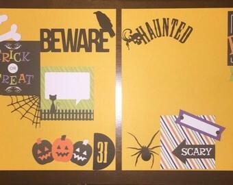 Halloween Scrapbook layouts!