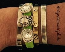 Owl Green Bracelet/Rubber Band Bracelet/Silicone Bracelet/Neon Bracelet/Rubber Material/Bracelet/Jewelry