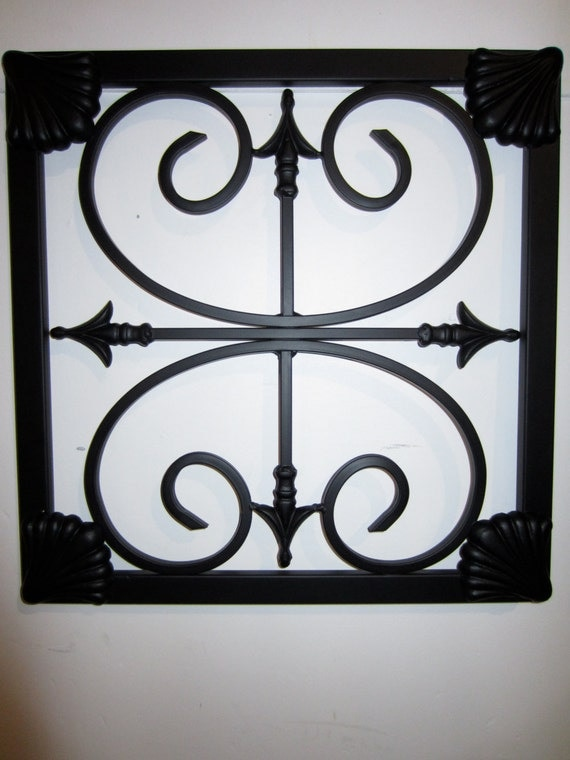 wrought iron wall decor. Black Bedroom Furniture Sets. Home Design Ideas