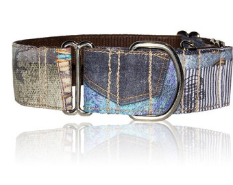 """Martingale Collar """"Patch"""" for greyhound, saluki, whippet, Borzoi"""