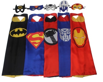 Pack 10 Cape Set - Adult Superhero Cape,  Adult Capes Bulk,Wonder Woman, Batman, Superman, Spiderman Capes, Superhero, birthday party favors