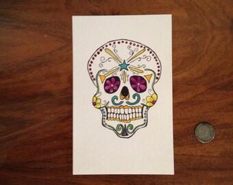 Sugar Skull 5x7 #3