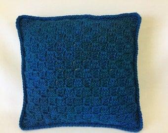 """crochet pillow, crochet cushion,throw pillow, bed pillow, decorative pillow,  14"""" pillow, insert included"""