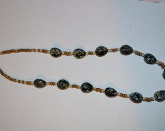 Marble designed Stone Statement Necklace
